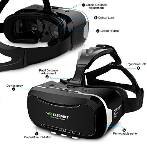 3D VR Headset, ELEGIANT Universal 3D VR Box - 8