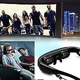 Excelvan 52 Zoll Videobrille Virtuell Bildschirm Digital 3D Stereo Multimedia Player 4GB Spreicher unterstützt 32G Mirco SD Karte -
