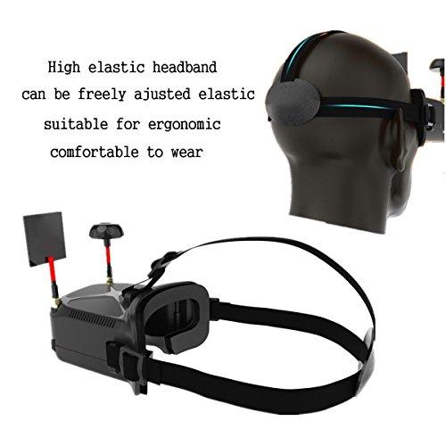 Eachine VR006 FPV Brille Mini FPV Brille Headset VR-006 3inch 500 * 300 Display 5,8G 40CH Bauen in 3,7 V 500mAh Akku für RC Racing Drone Quadcopters von HankerMall - 2