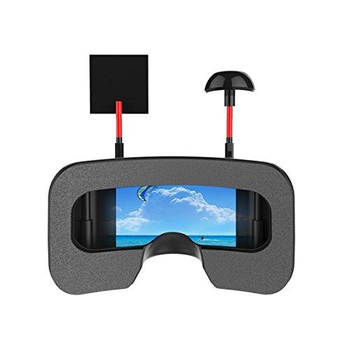 Eachine VR006 FPV Brille Mini FPV Brille Headset VR-006 3inch 500 * 300 Display 5,8G 40CH Bauen in 3,7 V 500mAh Akku für RC Racing Drone Quadcopters von HankerMall - 6