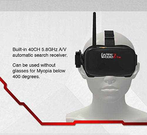 EACHINE VR007 Pro FPV Brille Goggles Video Headset 4.3 Inch 5.8G 40CH mit 3.7V 1600mAh Akku - 4