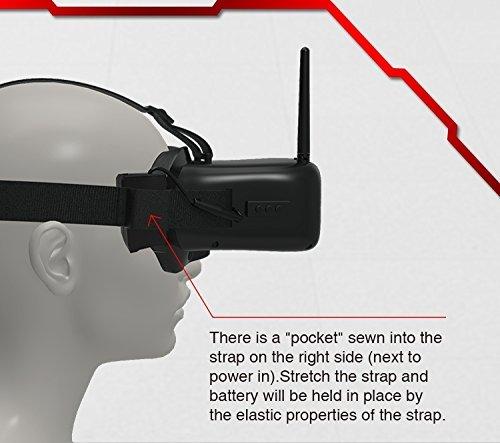 EACHINE VR007 Pro FPV Brille Goggles Video Headset 4.3 Inch 5.8G 40CH mit 3.7V 1600mAh Akku - 5