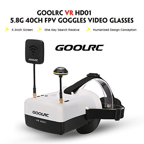GoolRC VR HD01 40CH Duo Antennen FPV Goggles Video Brillen für FPV Live Übertragung Racing Drohne H501S Inductrix QX95 NH-010 Quadrocopter - 2