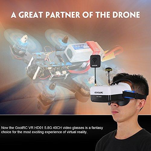GoolRC VR HD01 40CH Duo Antennen FPV Goggles Video Brillen für FPV Live Übertragung Racing Drohne H501S Inductrix QX95 NH-010 Quadrocopter - 3