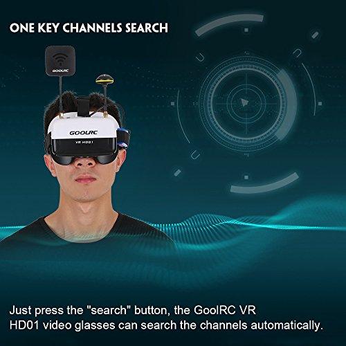 GoolRC VR HD01 40CH Duo Antennen FPV Goggles Video Brillen für FPV Live Übertragung Racing Drohne H501S Inductrix QX95 NH-010 Quadrocopter - 5