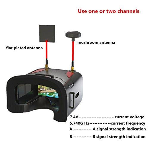 crazepony-uk EACHINE FPV Brillen VR D2 Pro Upgraded 5,8 g 40 CH 12,7 cm 2S 7,4–8,4 V mit DVR Objektiv verstellbar (EACHINE Brillen) - 4