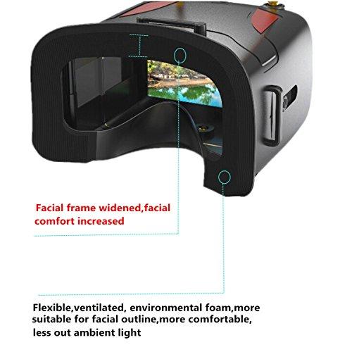 crazepony-uk EACHINE FPV Brillen VR D2 Pro Upgraded 5,8 g 40 CH 12,7 cm 2S 7,4–8,4 V mit DVR Objektiv verstellbar (EACHINE Brillen) - 7