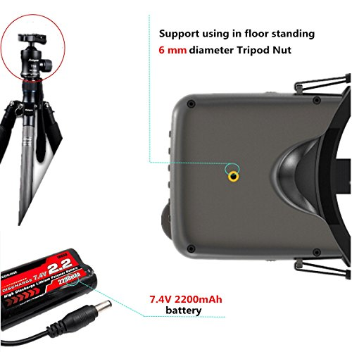 crazepony-uk EACHINE FPV Brillen VR D2 Pro Upgraded 5,8 g 40 CH 12,7 cm 2S 7,4–8,4 V mit DVR Objektiv verstellbar (EACHINE Brillen) - 8