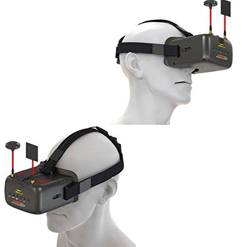 crazepony-uk EACHINE FPV Brillen VR D2 Pro Upgraded 5,8 g 40 CH 12,7 cm 2S 7,4–8,4 V mit DVR Objektiv verstellbar (EACHINE Brillen) - 9