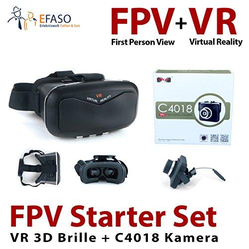 efaso FPV Starter Set - HD Kamera und VR 3D Brille