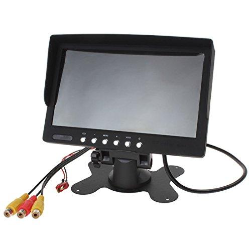 7 Zoll 800*480 400Lux High Bright HD LED FPV Aerial Photography Monitor Überwahung Unterstütz NTSC PAL für FPV Keinen & blauen & schwarzer Bildschirm oder Sonnenschirm - 2