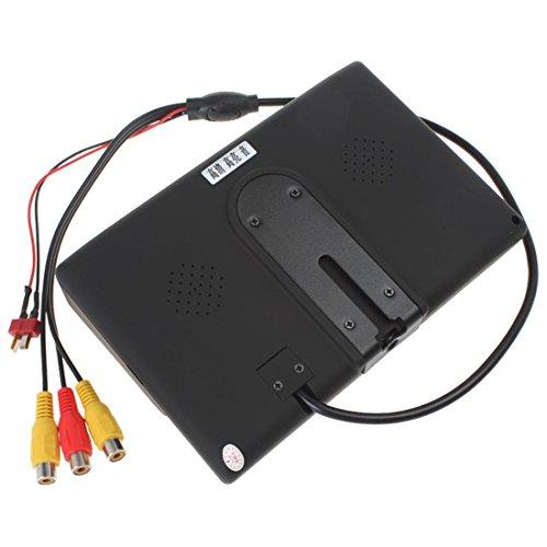 7 Zoll 800*480 400Lux High Bright HD LED FPV Aerial Photography Monitor Überwahung Unterstütz NTSC PAL für FPV Keinen & blauen & schwarzer Bildschirm oder Sonnenschirm - 3