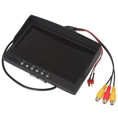 7 Zoll 800*480 400Lux High Bright HD LED FPV Aerial Photography Monitor Überwahung Unterstütz NTSC PAL für FPV Keinen & blauen & schwarzer Bildschirm oder Sonnenschirm - 5