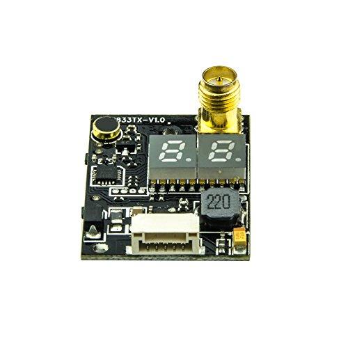 Gotoqomo TX833 5.8G 25mW 40CH Mini FPV Sender Doppel LED Anzeige FPV Audio Video Sender (mit Mikrofon) - 4