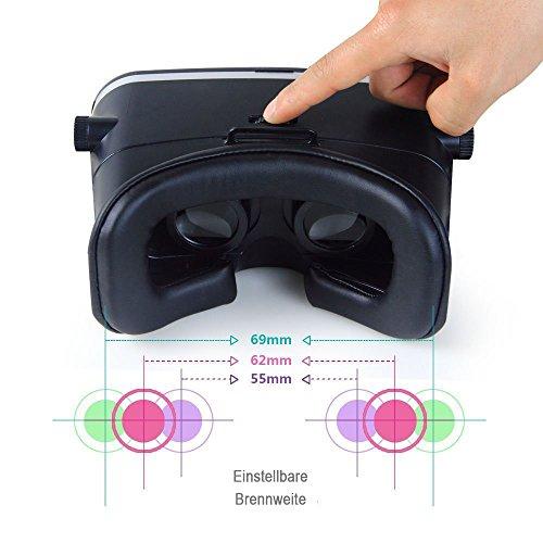 InnooTech 3D VR Virtual Reality Brille Game Videos Movies Film Virtuelle Realität Glasses Einstellbar für 3,5-6 Zoll Android IOS Iphone Samsung Smartphone - 4