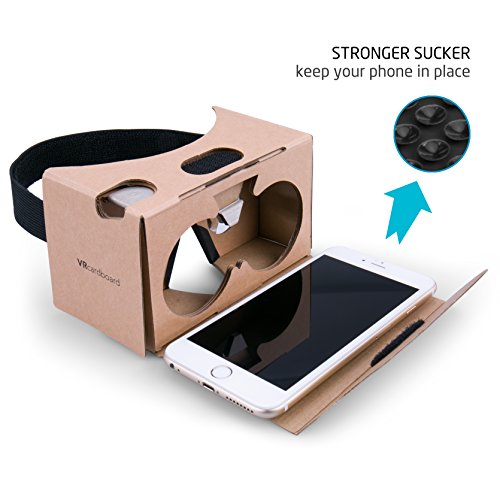 Google Cardboard Virtual Reality Brille, Splaks Mit Magnete Stirn- und Nasenpolster 3D VR Brille Virtuelle Realität Brille DIY VR-HMD / VR-Case geeignet für 4 bis 5,5 Zoll Android und iPhone 7 Smartphone - 2