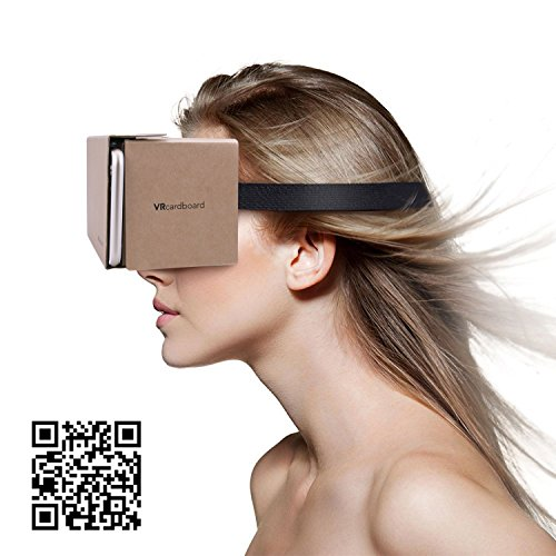 Google Cardboard Virtual Reality Brille, Splaks Mit Magnete Stirn- und Nasenpolster 3D VR Brille Virtuelle Realität Brille DIY VR-HMD / VR-Case geeignet für 4 bis 5,5 Zoll Android und iPhone 7 Smartphone - 6