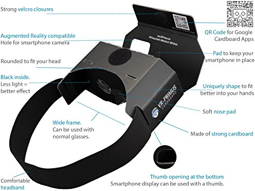 VR-PRIMUS® Cardboard | VR Brille | Virtual Reality - 3