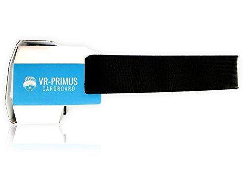 VR-PRIMUS® Google Cardboard VR Brille | Virtual Reality | Leicht, Nasenpolster, Kopfband | Für Smartphones wie iPhone, Samsung, HTC, Sony, LG, Nexus, Huawei, OnePlus, ZTE, Google Pixel usw. | (blau) - 8