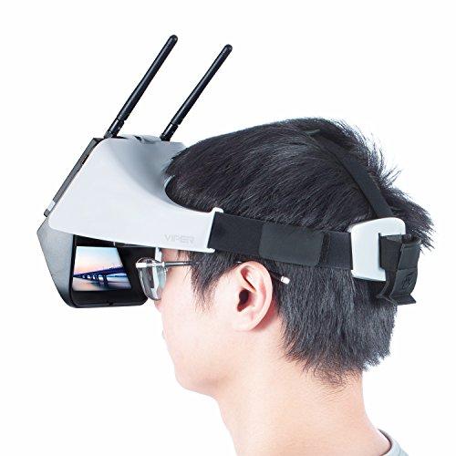 V2.0 FXT Viper FPV Brille 5,8 GHz 40CH Video Headset Unterstützung Tragen Brille, Abnehmbare 5 Zoll HDMI im Monitor, Vielfalt RX, DVR für RC Drohne - 5