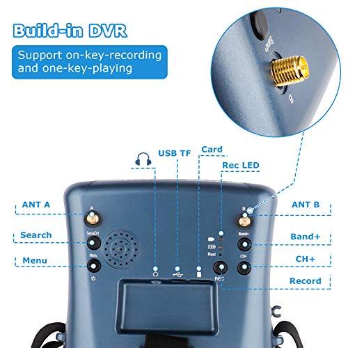 FPV Brille VR008 Pro 2 FPV Headset Brille mit DVR 4,3 Zoll - 6